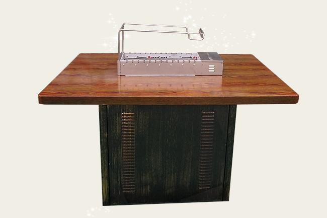 无烟烧烤桌,无烟翻转烧烤餐桌,木炭无烟烧烤桌,无烟烧烤桌厂家