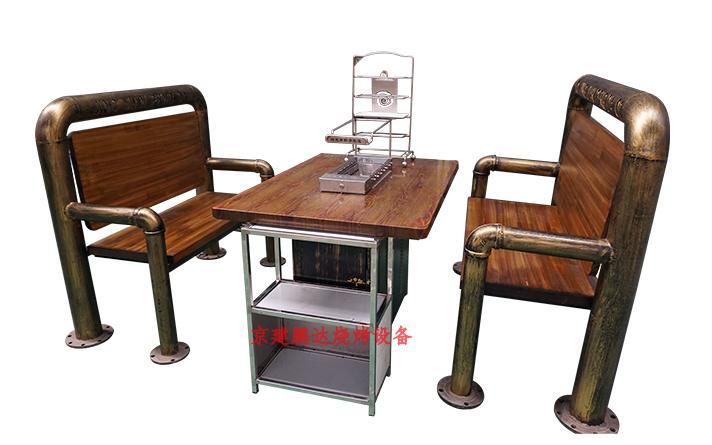 全自动无烟烧烤店专用烧烤整套桌椅