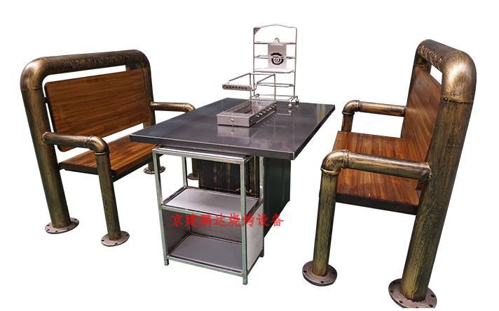 无烟烧烤店专用烧烤桌整套桌椅