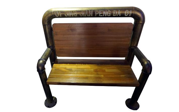 很久以前烧烤店专用钢管座椅